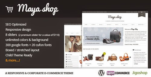 MayaShop A Flexible Responsive e-Commerce Theme Version 1.8.5 free