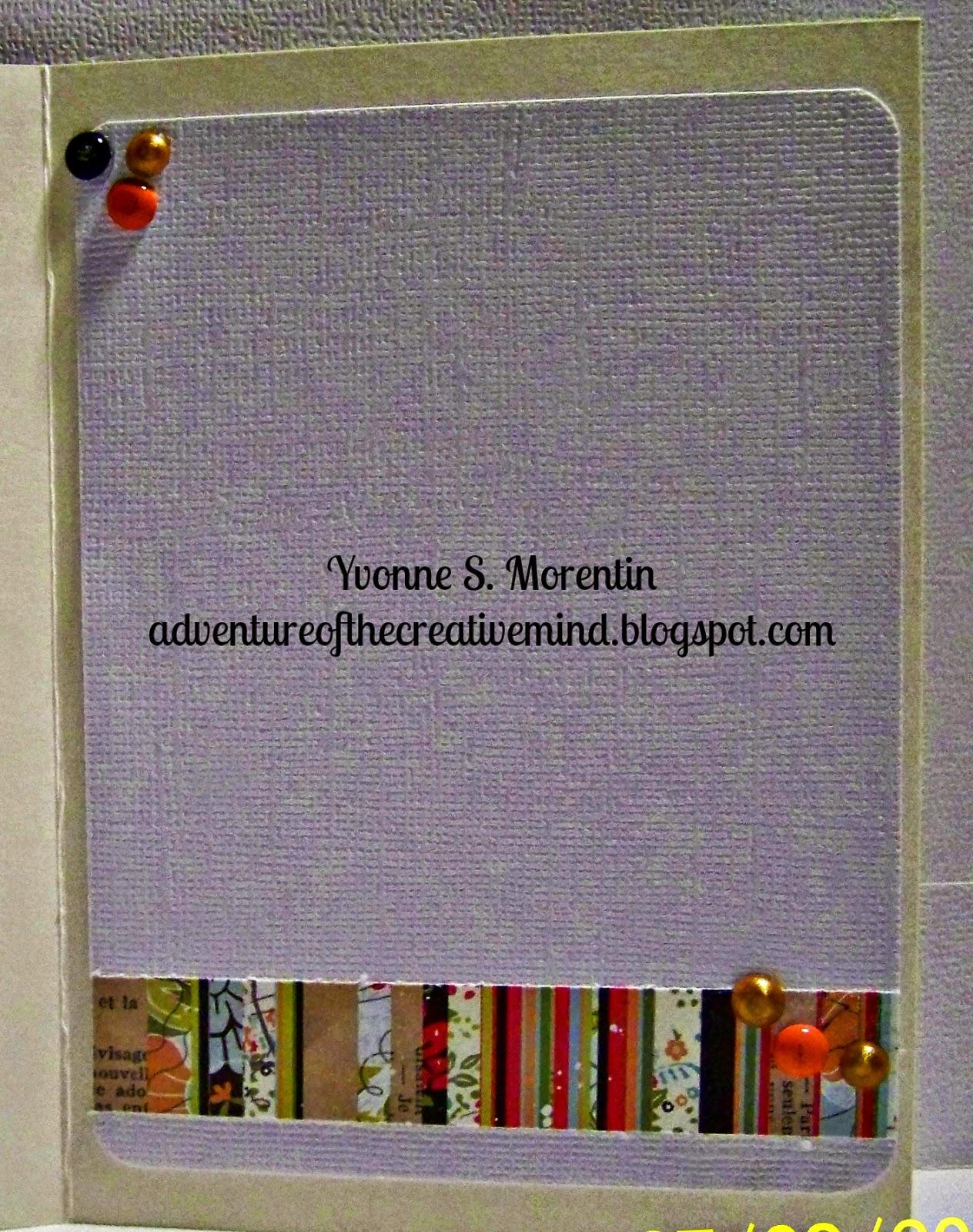 Yvonne S. Morentin - http://adventureofthecreativemind.blogspot.com/