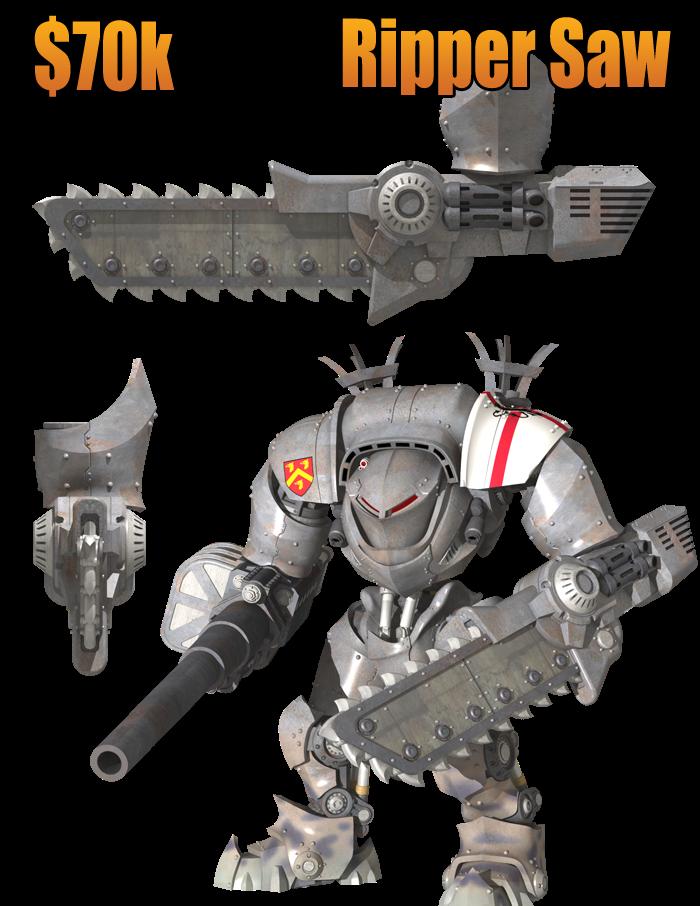 DreamForge-Games : proxy Titan / Chevalier Ripper+Saw+70k