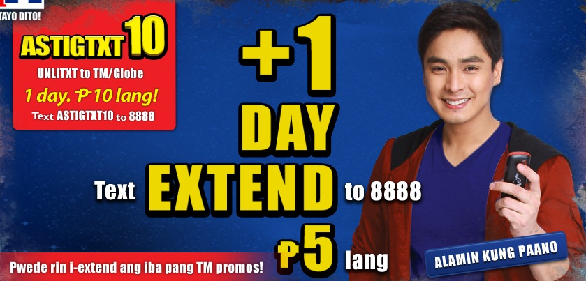 TM <b>promo</b> for only Php 5.
