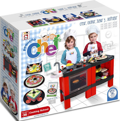 JUGUETES - COCINITAS - Chicos  Pequeño Chef - Cooking School - Cocina  Producto Oficial 2015 | La Fabrica de Juguetes - Chicos 85025   A partir de 3 años | Comprar en Amazon España
