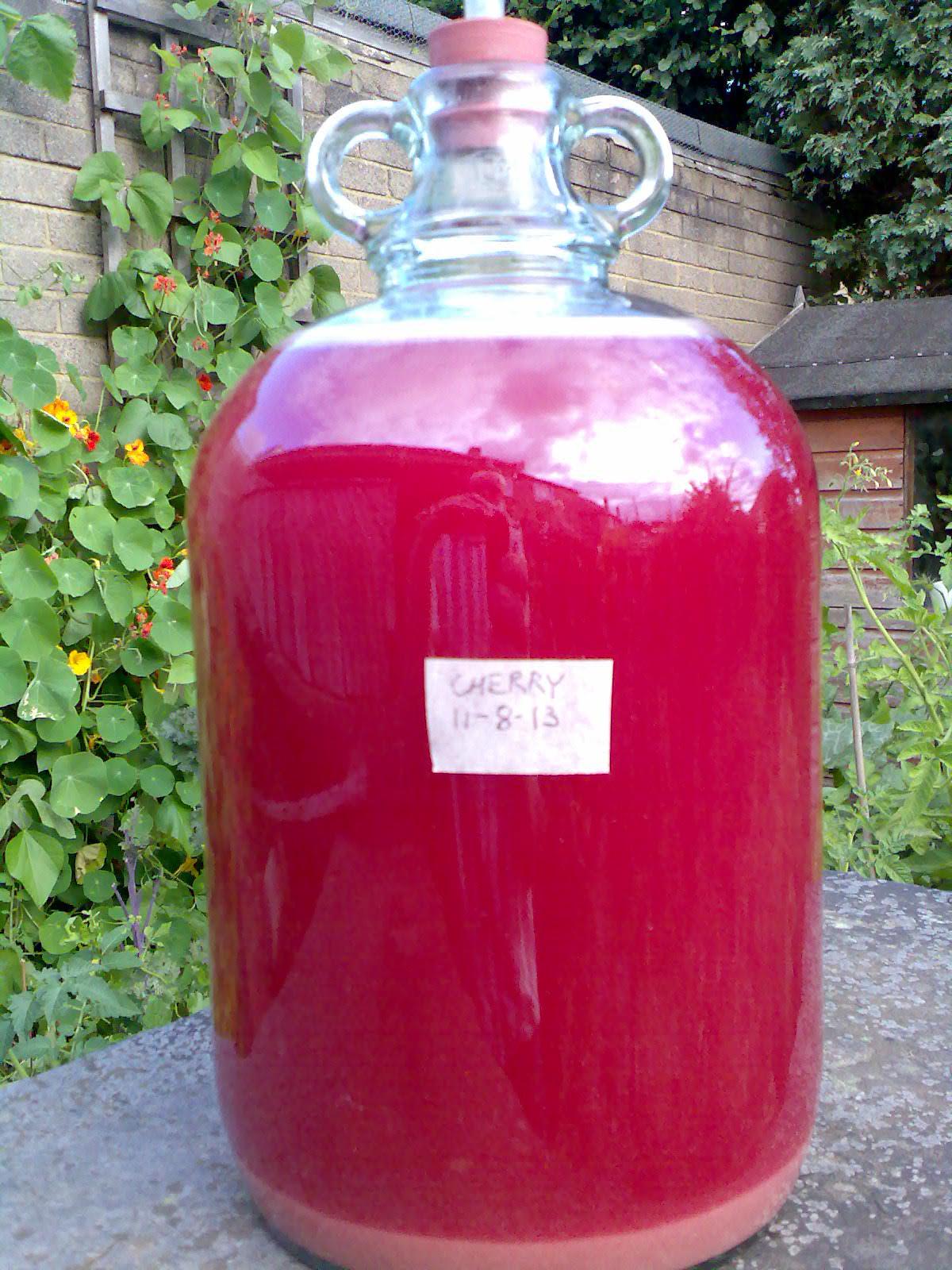 Cherry wine. Homemade Wine Recipe 35