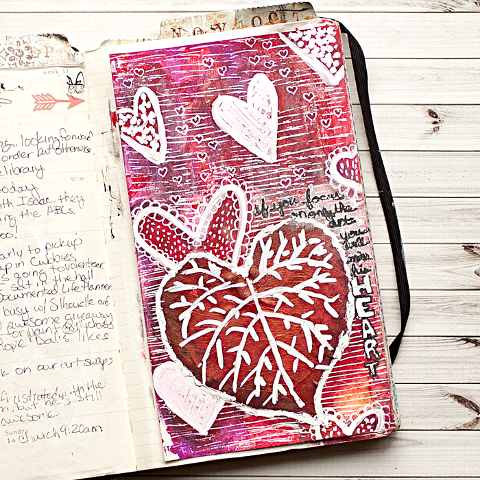 Heather Greenwood Designs | Documented Life Project - Week 37 | doodling with white pen
