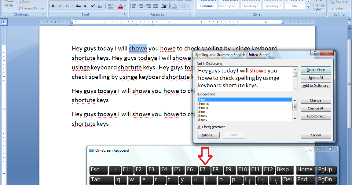 how to change spell check language in word 2007