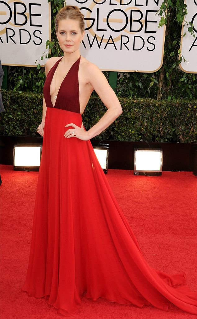 Amy Adams in a red Valentino gown at the 2014 Golden Globe Awards