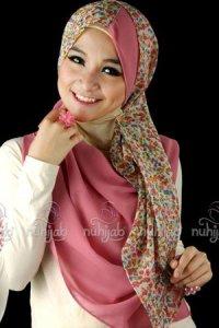 Nuhijab TS3 - Cream Pink (Toko Jilbab dan Busana Muslimah Terbaru)