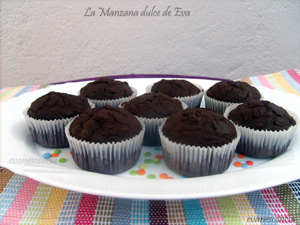 muffins doble chocolate y nueces