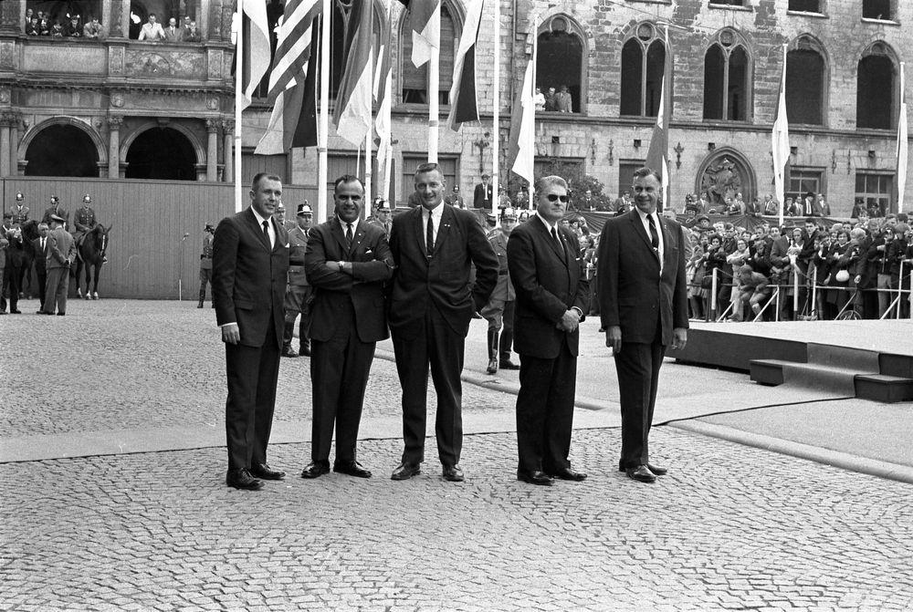 Agents Gerald Blaine, Sam Sulliman, Paul Burns, Chief James Rowley, and Roy Kellerman. Germany 6/25