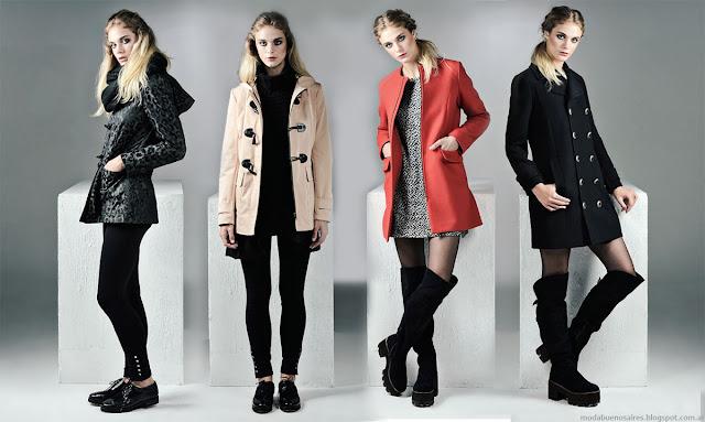 Tapados, camperas, vestidos invierno 2015. Moda invierno 2015 Mancini Mujer.