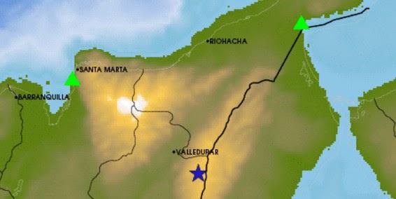 SISMO DE 5,4 GRADOS SACUDE COLOMBIA, 14 de marzo 2014