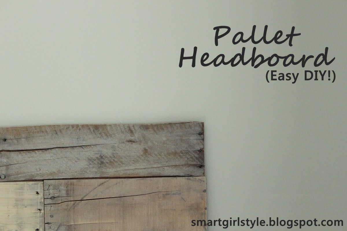 A day in the life too a blog about modest style how to for How to make a wood pallet headboard