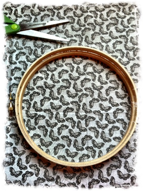 The Tickled Herring: Quick DIY Home Decor - Embroidery Hoop Fabric ...