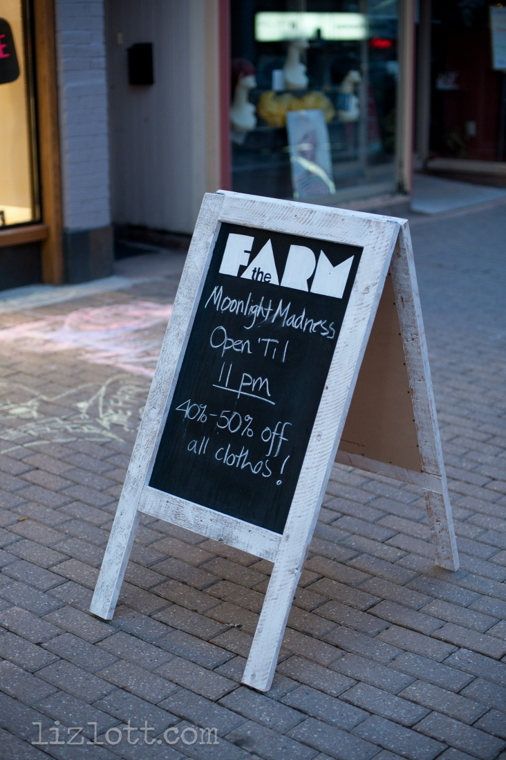 Follow your heart woodworking sandwich board for the farm