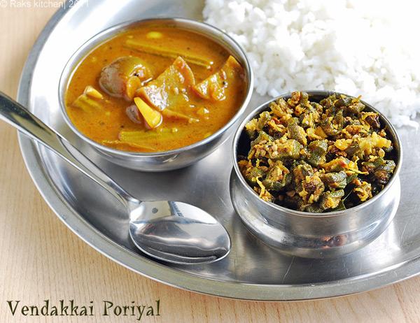 Vendakkai poriyal recipe, Dal tadka recipe - Raks Kitchen