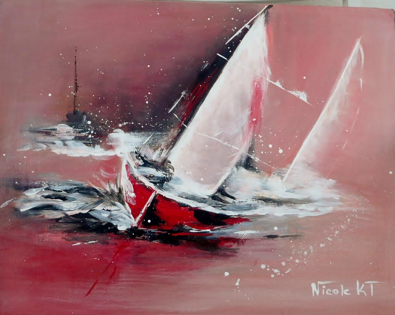 Nicole catt artiste peintre - Peinture contemporaine au couteau ...