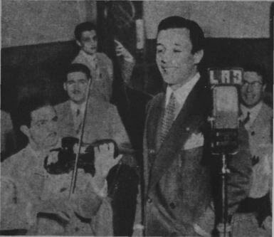Roberto Rufino en Radio Belgrano en 1944