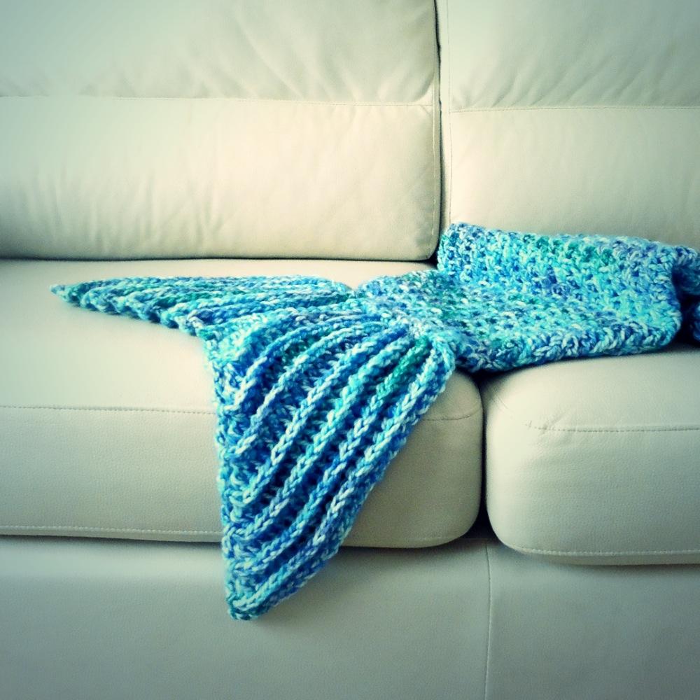 Manta de cola de sirena a crochet ahuyama crochet - Mantas de crochet paso a paso ...