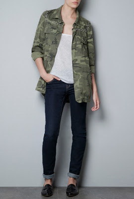 camisas camuflaje mujer Zara