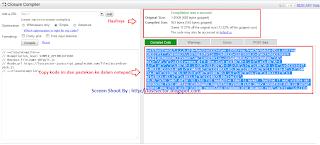 memperkecil ukuran javascript rekomendasi oleh google