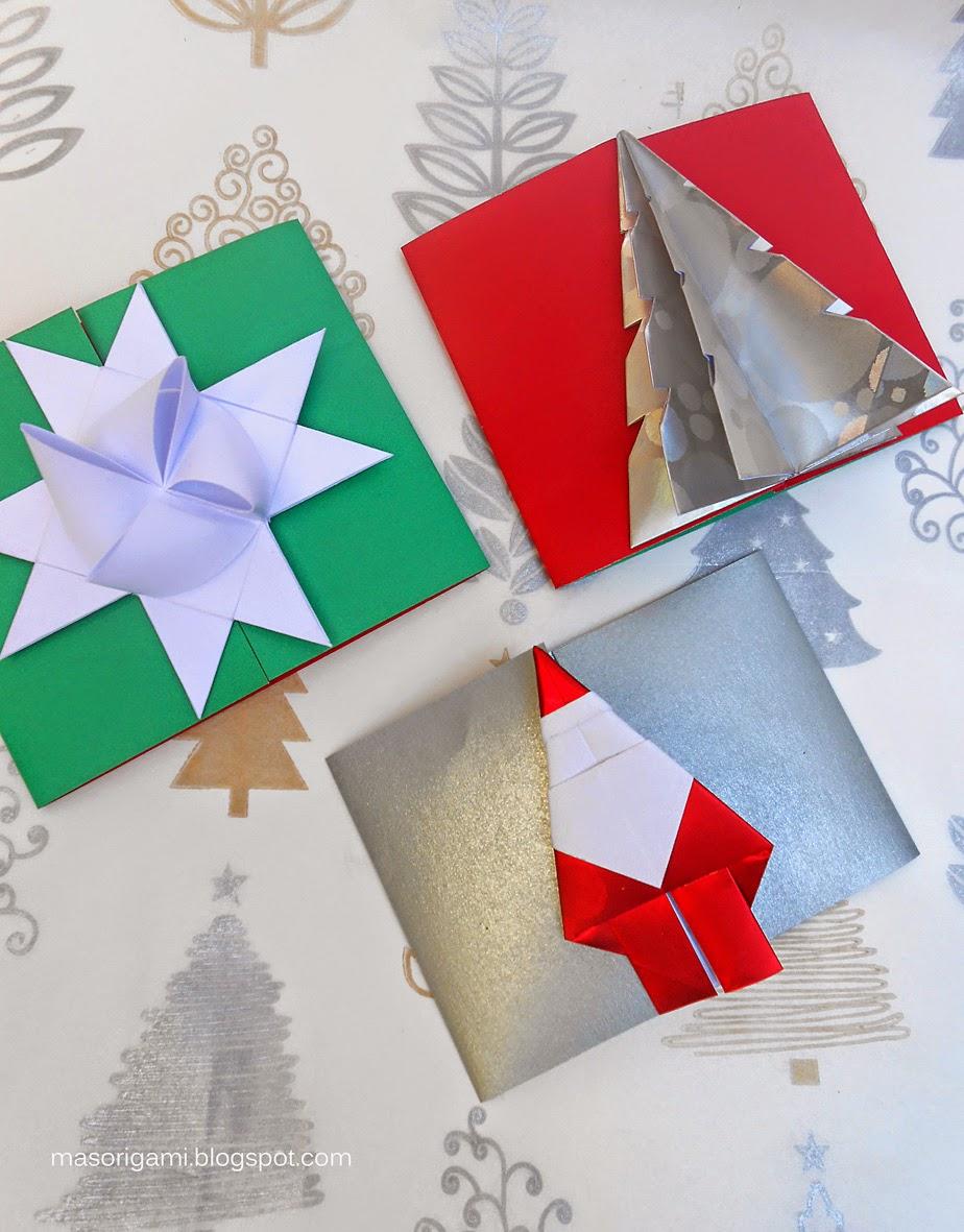 Mas origami tarjetas de origami con los mejores augurios - Arbol de navidad origami ...