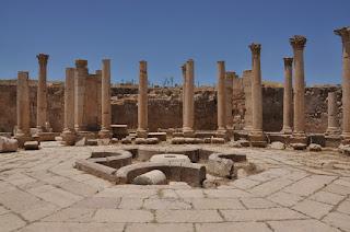 Ágora en Jerash