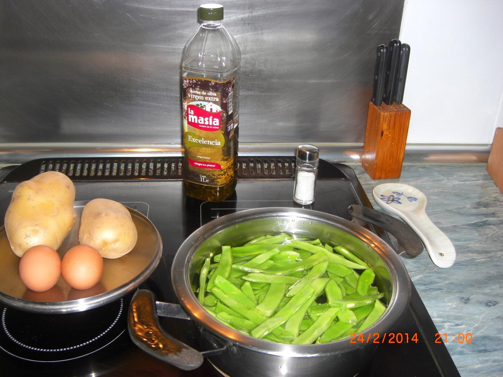 Mama lo cocina judias verdes con pure de patata y huevos - Tiempo coccion judias verdes ...
