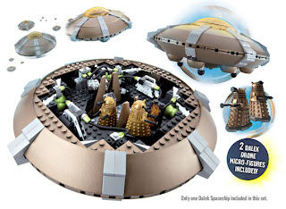 Dr Who Dalek Spaceship Set