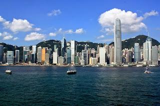 Tramming through Hong Kong Island
