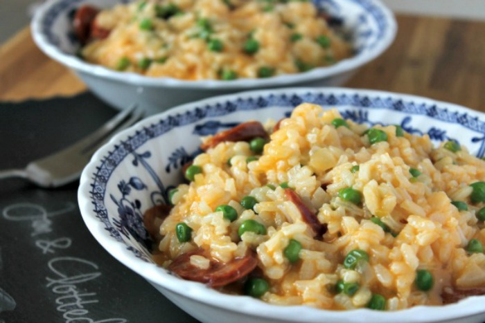 Chorizo and Pea Risotto