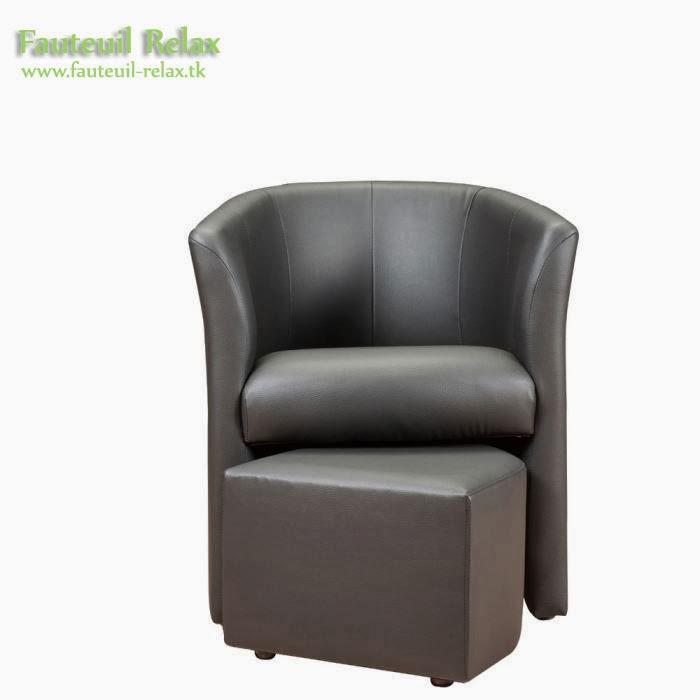 Fauteuil cabriolet baya avec pouf fauteuil relax - Fauteuil relax avec pouf ...