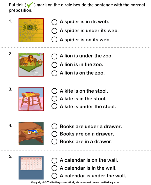 All Worksheets » Picture Prepositions Worksheets - Printable ...