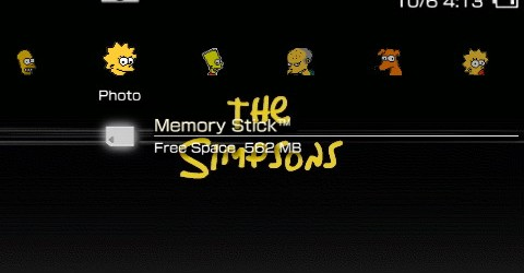 Psp Wallpapers And Themes Free Download Free PSP Theme: Simpso...