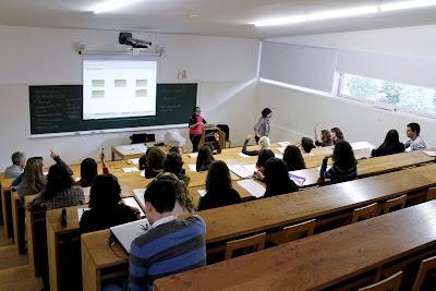 Aula facultad Xornalismo, Universidade de Santiago