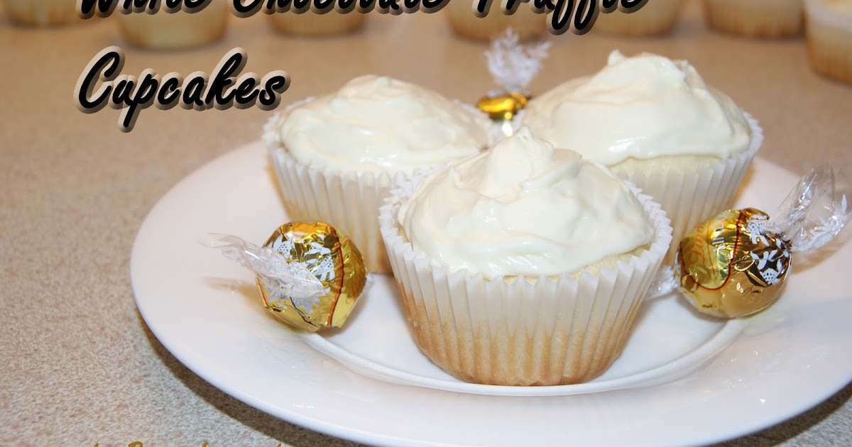 Being Inspired: Day 27 - White Chocolate Truffle Cupcakes