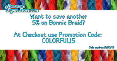 Macrame Cord Sale - now through 9/20/2015