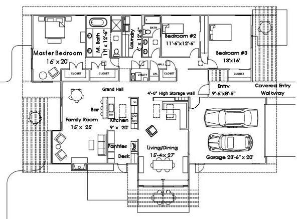 Planos de casas para dibujar for Como dibujar un plano de una casa