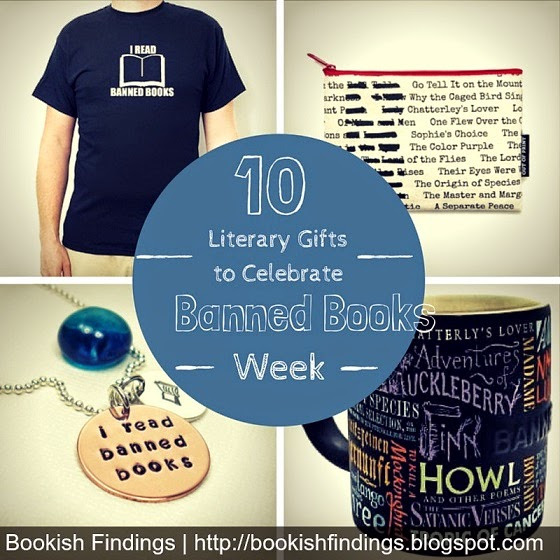 Banned books week - literary gifts