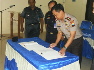 Atasi Illegal Fishing, Polres Pekalongan Kota Mou Dengan Satker PSDKP
