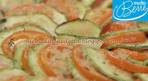Tian di verdure ricetta Parodi per Molto Bene su Real Time