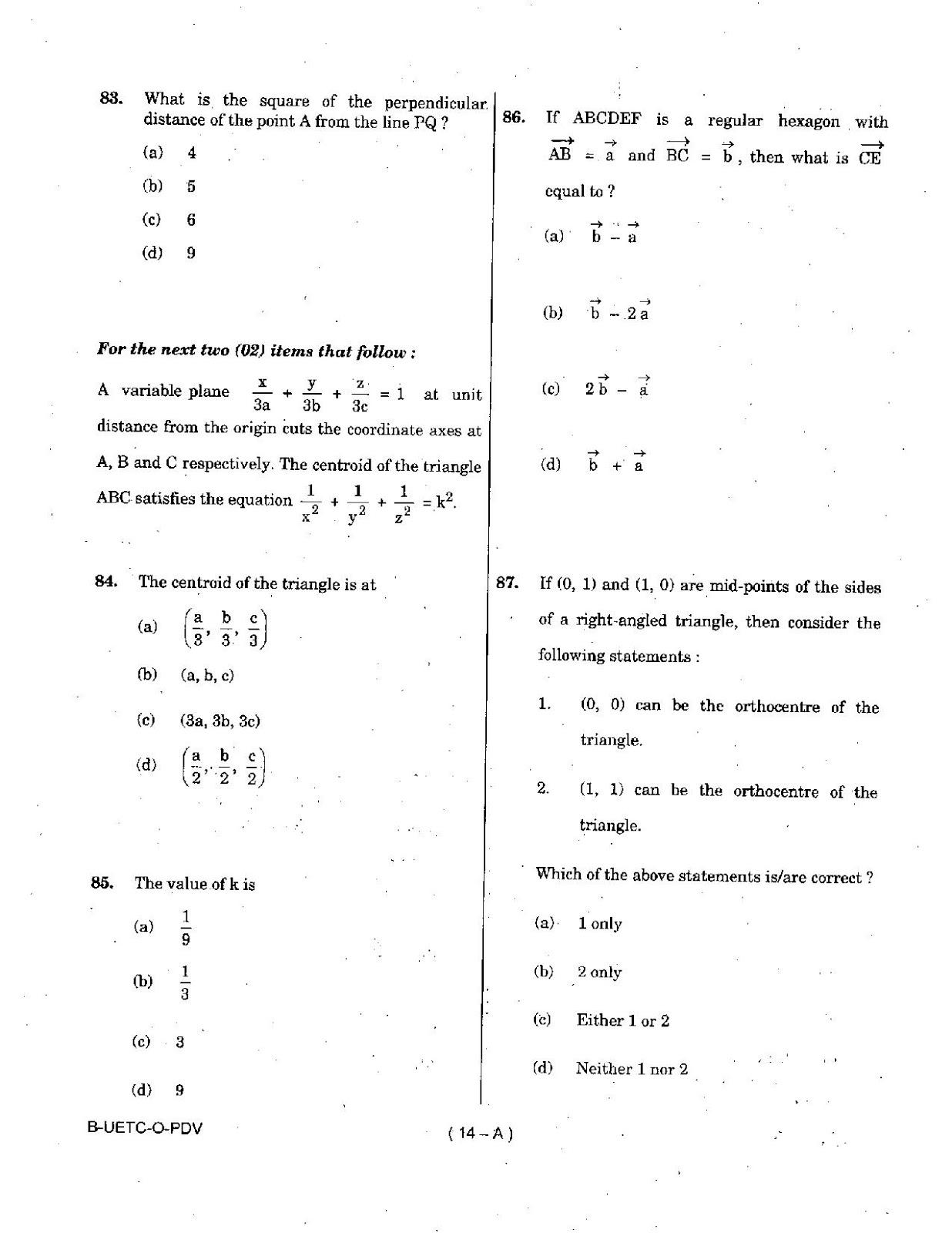 UPSC 2015 Mathematics Question Paper