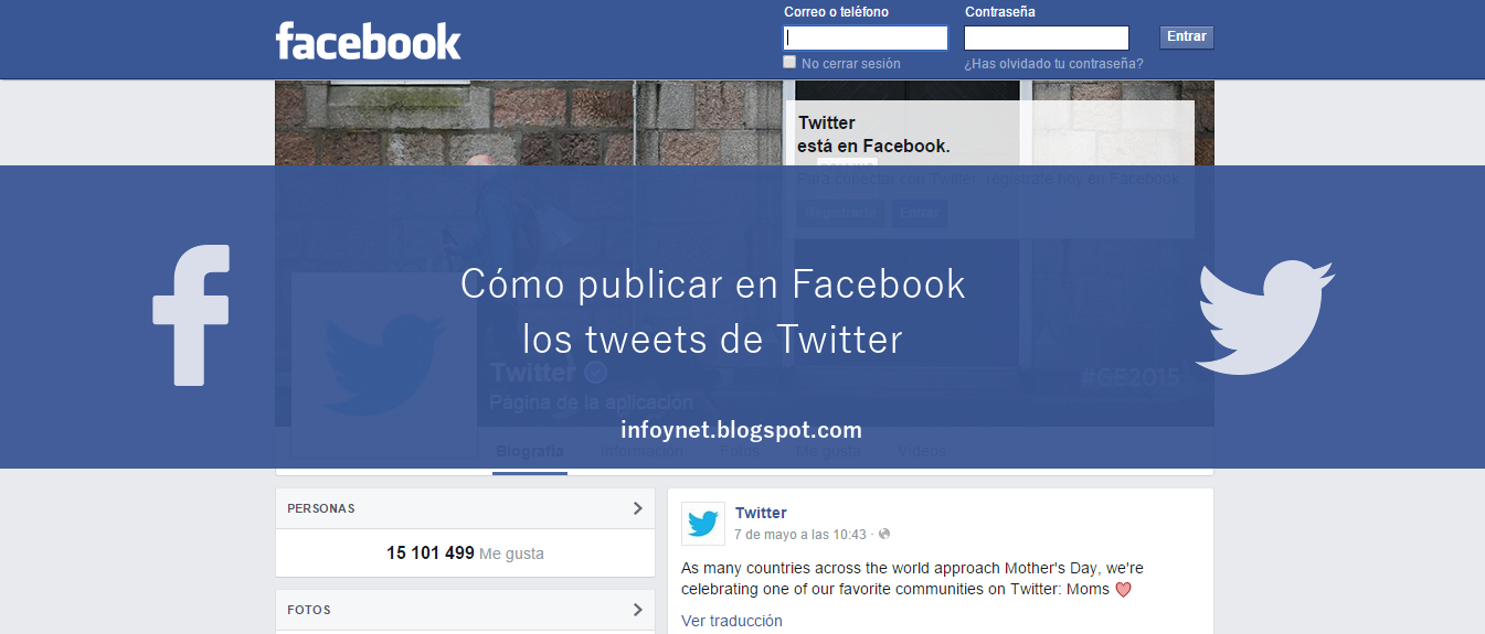 Cómo publicar en Facebook los tweets de Twitter