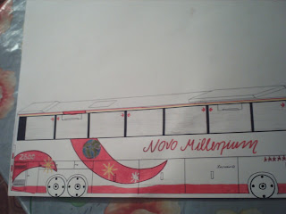 Ônibus de turismo - trás (desenho)