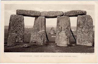 Vintage postcard of the Outer Circle, Stonehenge