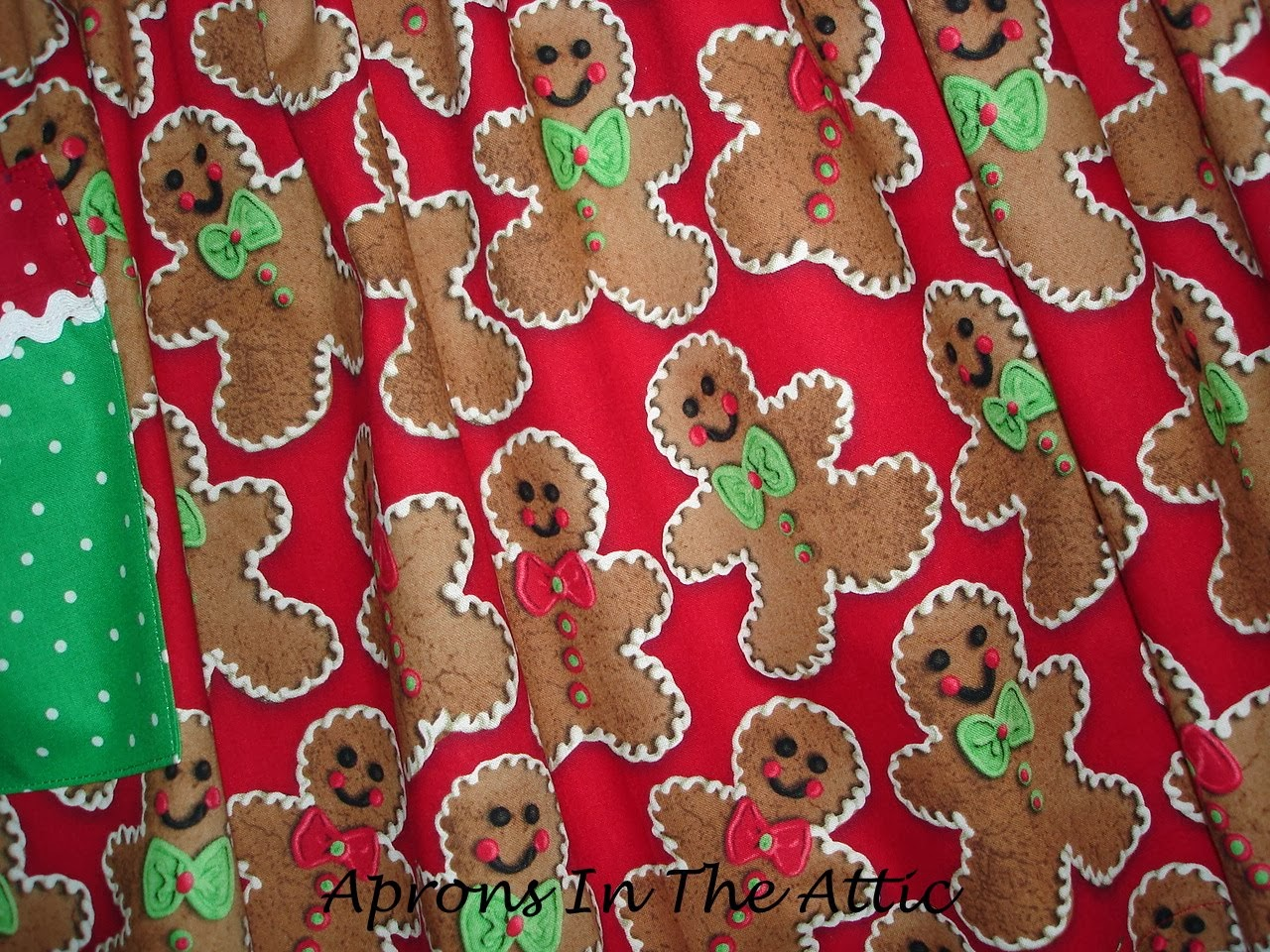 White apron hobby lobby - I Fell In Love With This Gingerbread Print When I Saw It At Hobby Lobby And Thought It Would Work Well With Lori Holt S One Yard Apron