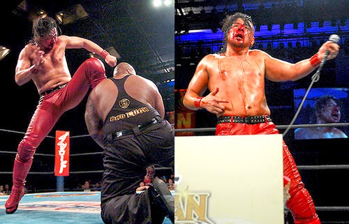 Shinsuke Nakamura vs Bad Luck Fale New Japan Cup 2014 final blood Bullet Club Prince Devitt Minoru Suzuki