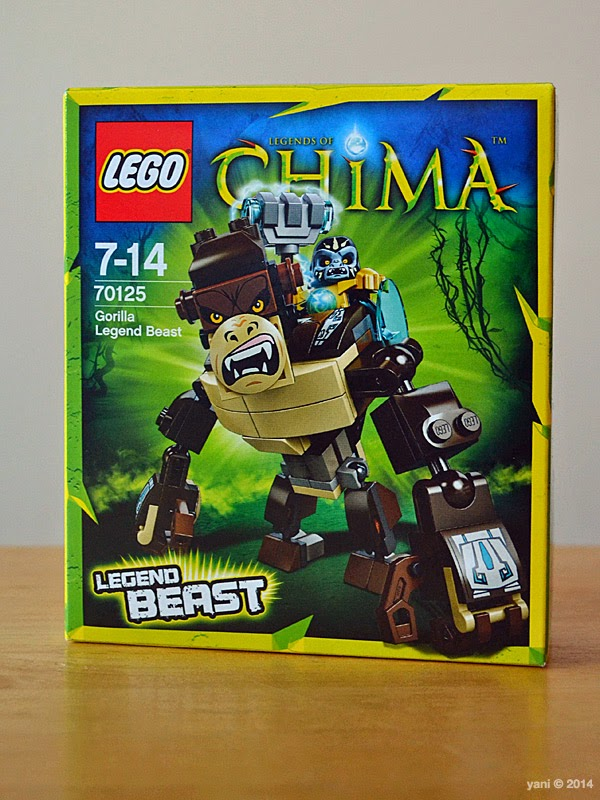 lego chima legend beast gorilla - da box