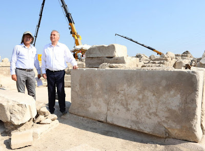 Marble block inscribed with 'water law' found in Laodicea