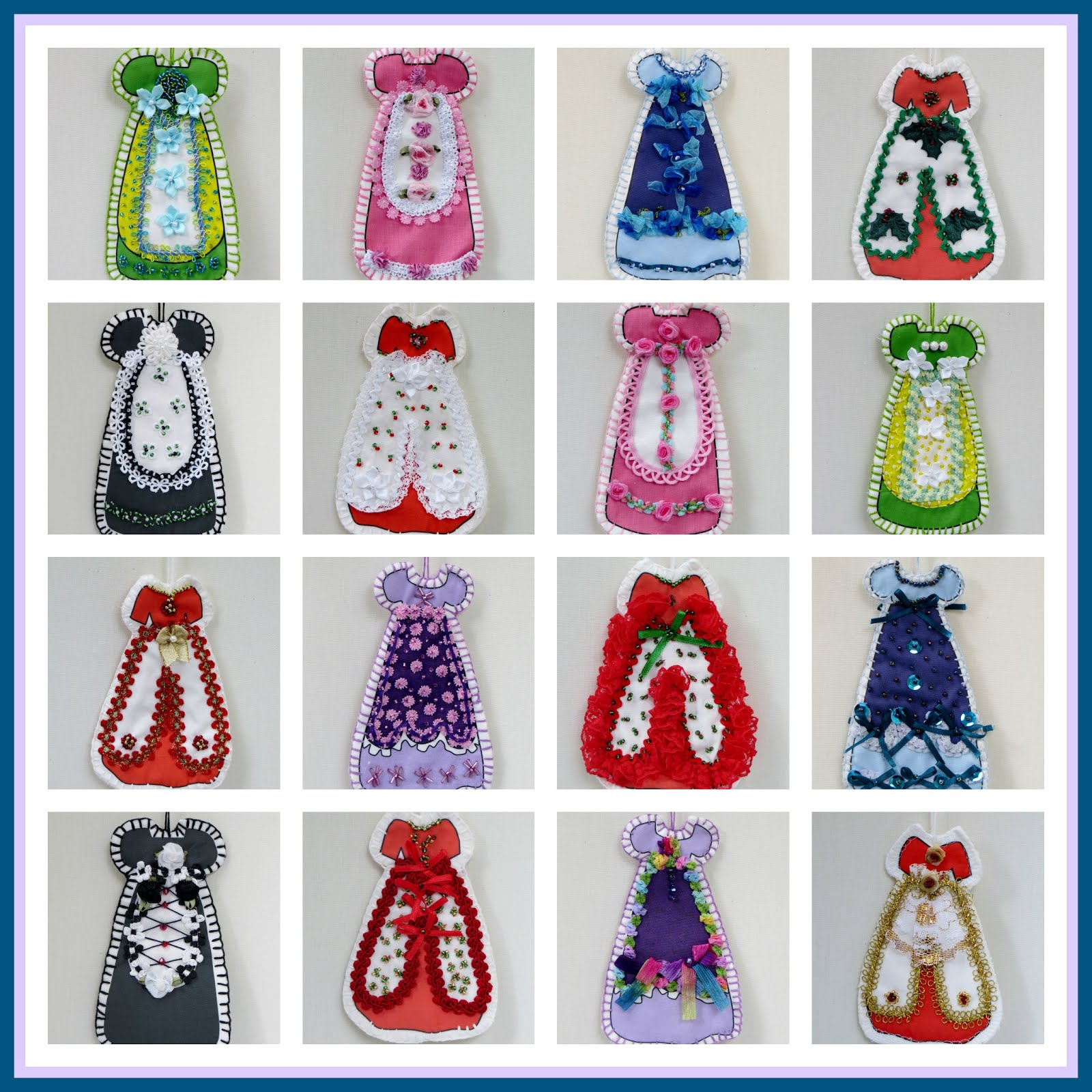 My Free How To Make My Victorian Cut and Sew Embroidered & Embellished Dress Ornaments E-Books
