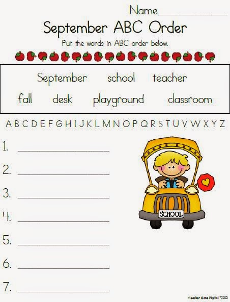 http://www.teacherspayteachers.com/Product/September-ABC-Order-Freebie-829059