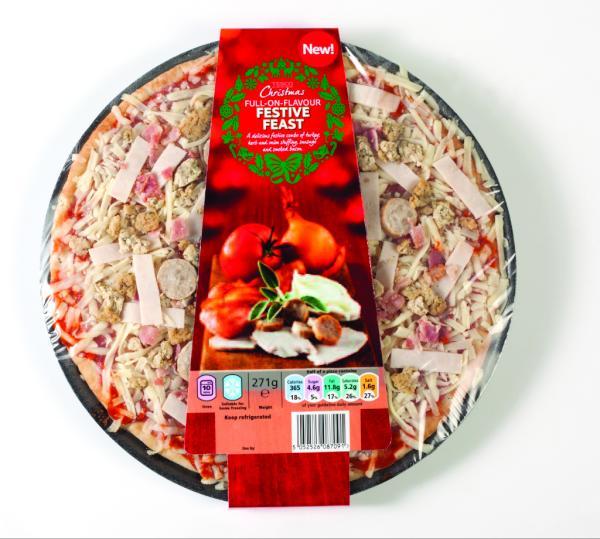 Fresh Easy Buzz The Tesco Christmas Dinner Pizza A Festive Feast Wit